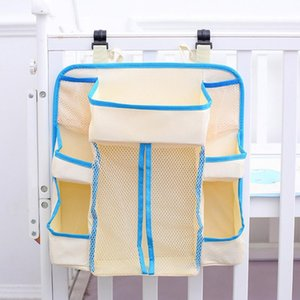 White Bedding Diapers Organizer Durable Multifunctional Multi Pockets Storage Bag Hanging Baby Crib Waterproof Heavy Duty Holder