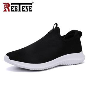 REETENE 2019 baratas zapatos casuales de los hombres de los hombres zapatillas de deporte de los zapatos corrientes Nueva para los hombres de peso ligero acoplamiento del aire de los zapatos masculinos grandes tamaños