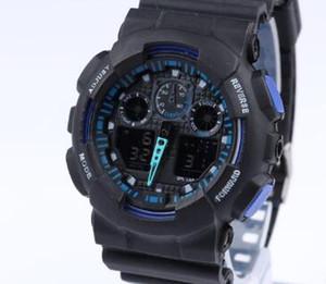 neue 2018 Männer Sportuhr LED wasserdichte Armbanduhr Luxus-Digitaluhr 12 Farben
