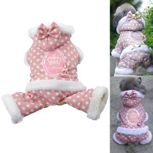 Winter Warm Pet Dog Clothes Puppy Cotton Coats with Cap Puppy Cat Hoodie Jacket For Dog Lovely jumpsuit Yorkie