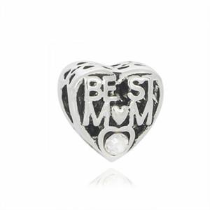 Pandora Braccialetti Best Mom Perla Charms Perline Argento Charms Bead per accessori europei fai-da-te collana gioielli all'ingrosso