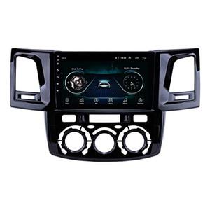9-дюймовый Android 9.0 Автомобильный GPS Navi стерео для 2008-2014 Toyota Fortuner / Hilux Руководство A / C LHD с WIFI USB камеры AUX поддержки заднего вида