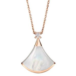 Designer B 925 Sterling Silber Fächerförmige Rock Kleid Frauen Anhänger Halskette Valentinstag Geschenk Hochzeit Schmuck 1: 1 Hohe Quanlity Hot
