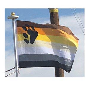 Гей Медведь Флаг 3x5 футов Пользовательский стиль 90x150cm полиэстер Printed LGBT Pride Flag Banner, бесплатная доставка