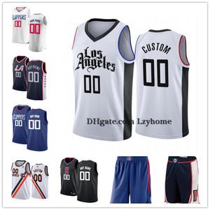 Özel Kawhi 2 Leonard Paul 13 George Landry 20 Shamet Lou 23 Williams LAClippers Şort Pantolon 5 Harrell 21 Beverley Basketbol Formalar