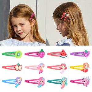 2pcs / lot Frutta Mermaid Hair Clip Hairgrips sveglio per la neonata Boutique BB clip Carino Barrettes Headwear Accessori per capelli