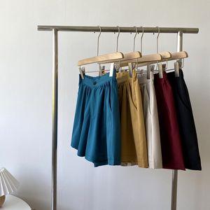 nueva cintura suelta la mujer pantalones cortos casuales color puro coreano HXJJP 2020 Summer