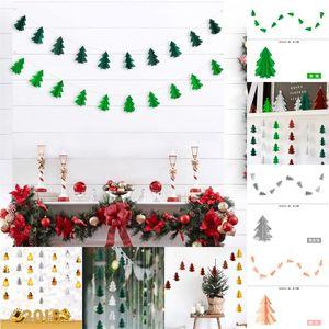 Mini Çiçek Çekme Üç Boyutlu Noel Ağacı Çekme Bayrakları Parti Süslemeleri Kolye Trompet Opp Paket Sıcak Satış 5 5ks J1