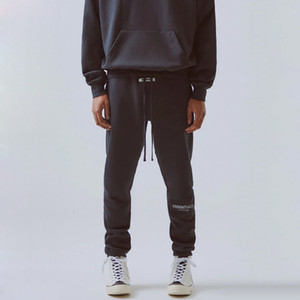 19FW FOG FEAR OF GOD Essentials Pants 3M Reflective Letter Embroidery Track Pants Fashion Street Hombres Pantalones Sport Sweatpants HFYMKZ178