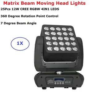 Hohe Qualität RGBW 4IN1 25X12W CREE LEDS LED Matrix Strahl Moving Head Lights Perfekt für Bühne Theater TV Studio Disco Nachtclubs