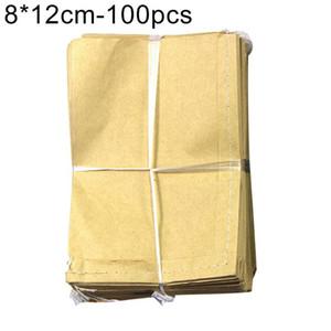 100pcs del almacenamiento de papel Kraft Bolsas Semillas de plantas polen Granja bolsa de papel bolsa empaqueta para