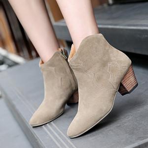 Sıcak Satış-Yeni sıcak satış ayakkabı ve spor ayakkabı yürüyüş ayakkabıları yeni yüksek kaliteli kadın ayakkabıları deri kalın topuk bayan