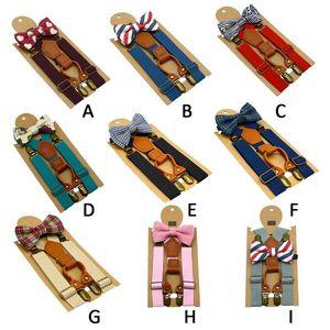 Adjustable Y-Back Brace Belt 1PC Kids Elastic Suspenders & Bow Tie Matching Boy Clothing Suit Boy Bowtie Children Costume