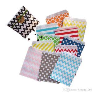 Nueva Eco friendly caramelo hornear galletas precioso papel bolsa de almacenamiento del bocado de Navidad Goodie Bolsas Flor de papel de regalo de alta calidad de 3 8LY