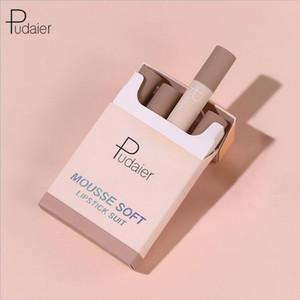 매트 batom의 부드러운 보습 건조하지 maquiagem 립스틱 Pudaier 매트 립스틱 세트 메이크업 작은 연기 튜브 담배