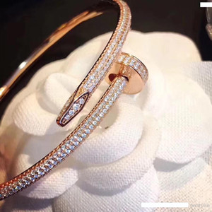Luxury Designer Jewelry High Quality Silver Rose Gold Mens Womens Diamond Bracelets Iced Out Chains Men Bracelets Jewelry Women Bracelets