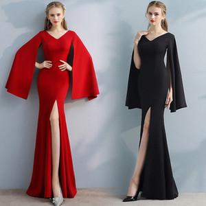 Toast Kleidung temperament 2020 Herbst und winter fishtail lange edle und elegante Abendkleid Bankett Kleid war dünne weibliche