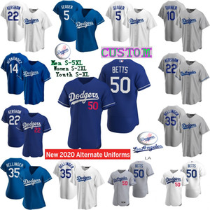 Los Angeles 2020 Mookie Betts Dodgers Jersey Cody Bellinger Seager Justin Turner Hernandez Clayton Kershaw Walker Buehler Muncy