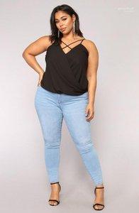 Zipper Fly Pantalones largos 7XL Verano Mujeres Lápiz Jeans Ligero Azul Lavado Skinny Jeans Sexy Damas