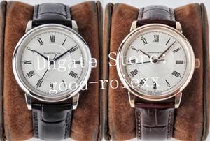 (2) ساعات ذهبية وردية فاخرة للرجال ساكسونيا أوتوماتيكية (Saxonia Automatic Watch Men's 2892 Movement Leather Srad Glashutte Eta Business Sv Wristwatches)