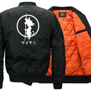 USA SIZE Anime Goku Bomber Jacket ing Jacket Winter thicken Warm Zipper Men Jackets Unisex Coat