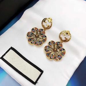 renkli elmas çekicilik düğün takı ve içi boş sözler tasarım PS 5721A ile Çiçek tasarım