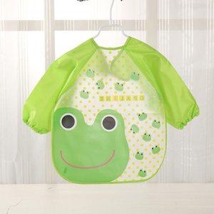 앞치마를 먹이 TELOTUNY 아기 방수 의류 턱받이 귀여운 만화 동물 아기 앞치마 전체 소매 앞치마 어린이 앞치마 긴 소매
