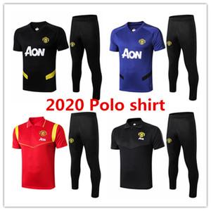 2020 2021 Man United mens camisa pólo kits Pogba treino de futebol do futebol T Maguire Martial Rashford manga curta treinamento tshirt