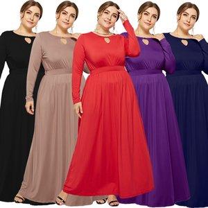 가을 여성의 임신 출산 옷 전체 소매 솔리드 컬러 라인 임신 드레스 패션 이슬람 출산 옷 3XL의 큰