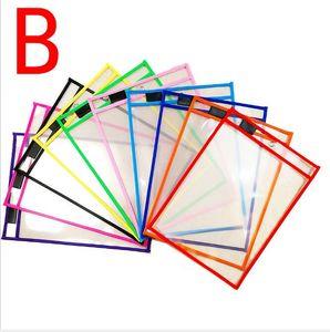 A4 شفاف الطلاب PVC الخياطة الجاف مسح الملف أكياس للماء قابلة لإعادة الاستخدام التوسع ملف الايداع المنتجات مدرسة المكتبية HA643