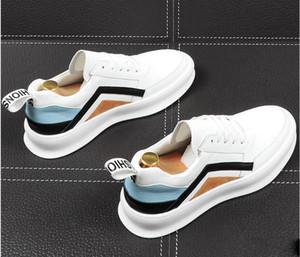 2019New Varış Bahar Erkek beyaz rengi Günlük Ayakkabılar Moda Forward Yuvarlak Burun Nefes Düz Platformu beyaz mavi makosenler 38-43