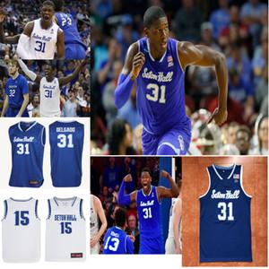 Custom Seton Hall Pirates Jerseys 31 Angel Delgado jersey 0 Mcknight 1 Michael Nzei Myles Powell Cale College Basketball Jerseys Stitched