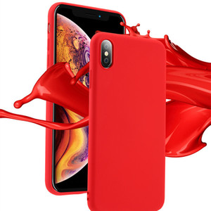 Liquid Silicone Soft Phone Case For iPhone XS Max X XR Anti-Slip Full Protection Back Case Cover For iPhone 6 7 8