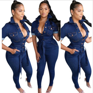 Women Spring SUMME clothes jogging sportswear fitness running Hot style women's fashion casual sexy denim jumpsuit Jumpsuits & Rompers
