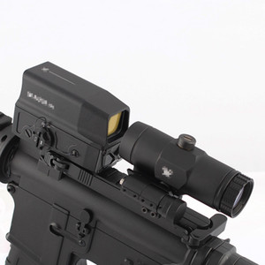 Tactical UH-1 Caccia olografico Red Dot Campo di applicazione e VMX-3T 3X Magnifier Combo con flip Monte