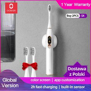 Oian x xiaomi sonique brosse à dents électrique rechargeable étanche à ultrasons à ultrasons à dents de dents d'adultes blanchissant meilleur cadeau
