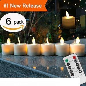 Пульт дистанционного управления светодиодные свечи пакет из 6 теплых белых светодиодных Беспламенных свечей с батарейным питанием танцующее пламя бытовой чайный свет