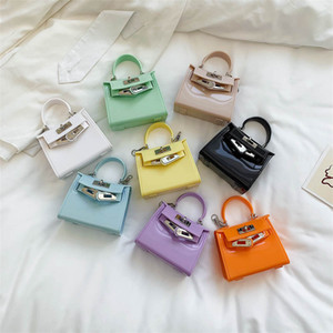 Children Single-shoulder Bags Fashion New cute baby handbag New Candy Color Kids princess accessory bags Girls Chain Messenger Bag S129