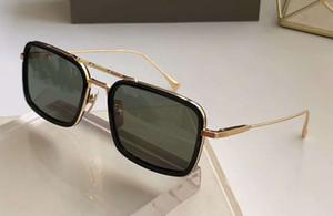 Gafas de sol de montura rectangular Oro Negro Verde lente 134 Ocho vidrios de Sun de las gafas de sol de diseño Sombras nuevo con la caja