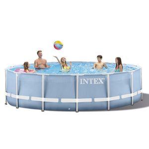 INTEX 305 * 76 cm Marco Redondo Piscina sobra la tierra Set 2019 modelo Pond familiar Piscina bomba del filtro de la piscina estructura de marco de metal