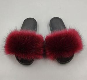 Zapatos mujer mujeres deslizador de plumas de pavo real, natural, piel pantuflas de peluche Diapositivas mulas mujeres planas de los zapatos de dedo del pie abierto