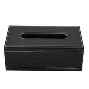 Holder Casa Cuoio Grande tessuto anti-umidità rettangolare scatole di carta tovagliolo Solido Scatole caso della famiglia di Office