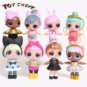 TOY CHEST Brand LOL 9CM Surprise Doll American Cartoon PVC Cute Children Toys Anime Figuras de Acción Baby Novedad Muñecas Para Niñas 8 Unids / set