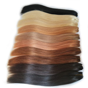 Cuticle Aligned Hair Black Brown Blond Red Human Hair Weave Bundles 8-26 Inch Brazilian Straight Remy Hair Extension Buy 2 or 3 Bundles