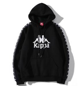 Классические мужские и женские Толстовка Классический ВыпKappa Ретро Printed Top Black и White Wild пуловер Повседневный Толстовка