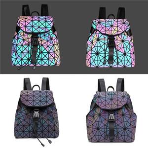Women Box Handbag 2020 New Brand Designer Fashion Plaid Laser Messenger Bag Chain Rhombus Small Square Shoulder Bag #498