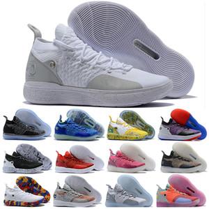 2019 XI KD11 Sneakers uomo sneaker Original Kevin Durant New KD 11 EP White Orange Foam Pink Paranoid Oreo Scarpe da pallacanestro