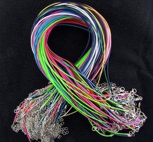 2мм Mix Colors Wax Leather Snake ожерелье 45см + 5см шнура Строка тросик Удлинитель цепи с компонентом ювелирных изделий фермуара омара DIY моды