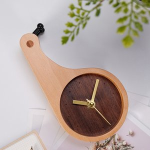 Solid Wooden Snails Alarm Clock Children Kids Bedroom Wood Crafts Table Decor Gift Desk Table Clocks