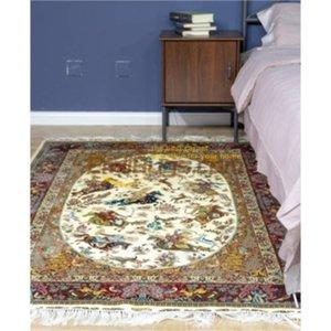 Reine Seide Handmade persischer Teppich Dekorative Aufmaß Bereich Teppich New
